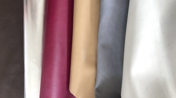 Leather - colour and pattern swatches